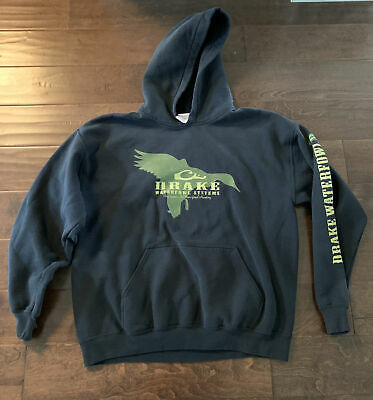 $ CDN12.12 • Buy Drake Waterfowl Systems Black Pullover Hoodie Mens Size Large