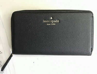 $ CDN72.45 • Buy Kate Spade New York Large Staci Continental Wallet With Card Slots Black New