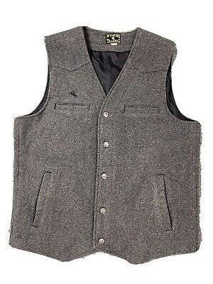 $55 • Buy Wyoming Traders Men's Virgin Wool Western Button Vest Grey Size Large Tall