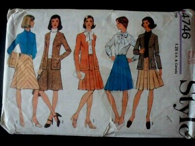 £0.99 • Buy Style Sewing Pattern For Ladies Skirt And Blouse Size12