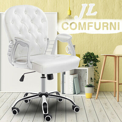 AU129.99 • Buy JL Comfurni Executive Chairs Gaming Chair Home Office Computer Desk Chair -White