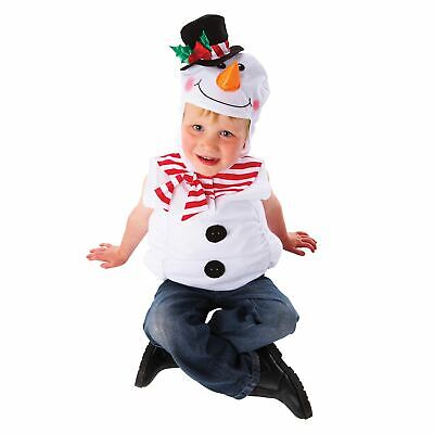 £4.99 • Buy Boys Toddlers Snowman Costume Christmas Nativity Fancy Dress Outfit Age 3-5