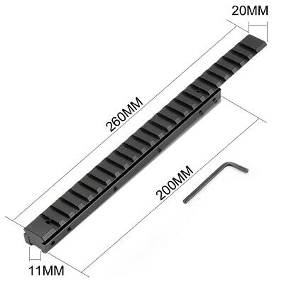 £14.89 • Buy Extension Dovetail Rail 11 To 20 Mm Picatinny Flat Top Riser Adapter Scope Mount