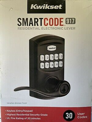 $ CDN36.30 • Buy Kwikset SmartCode 917 Entry Traditional Residential Electronic Lever - 99170-002