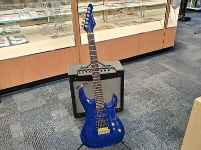 $ CDN326.34 • Buy Aria Mac-special Electric Guitar Blue Inc Gold Hardware