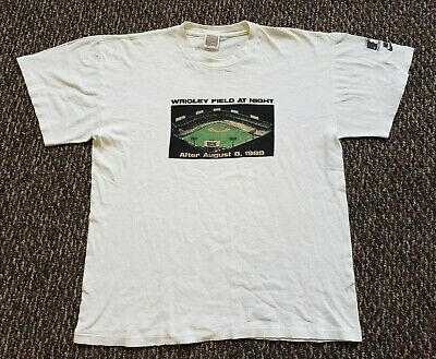 $ CDN242.62 • Buy Vintage 1988 Nike Wrigley Field Chicago Cubs Single Stitch T Shirt Size Large