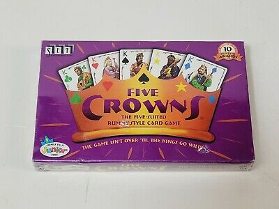 AU12.81 • Buy Five Crowns 5 Suited Rummy Style Card Game Set Enterprises Family Playing A-3