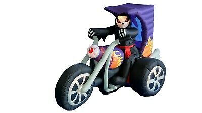 $ CDN161.75 • Buy Halloween Air Blown Inflatable Yard Blowup Decoration Grim Reaper On Motorcycle