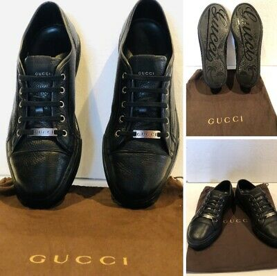 AU460 • Buy Gucci Pebbled Nappa Leather Low Top Sneakers Size 10G