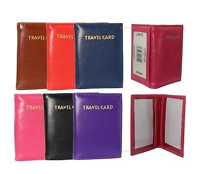 £3.99 • Buy Slim Soft Leather Travel Bus Pass Oyster ID Credit Card Holder Wallet