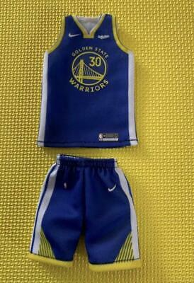 $30 • Buy Custom Made 1/9 Figure Stephen Curry #30 Warriors Blue Jersey Fit Enterbay