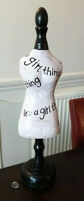£14.99 • Buy Large Vintage Jewellery Stand Mannequin It's A Girl Thing 21 /53cm Tall Wood FP
