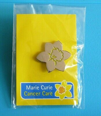 £4.99 • Buy Marie Curie Silver Tone Daffodil Stud Pin Badge Charity