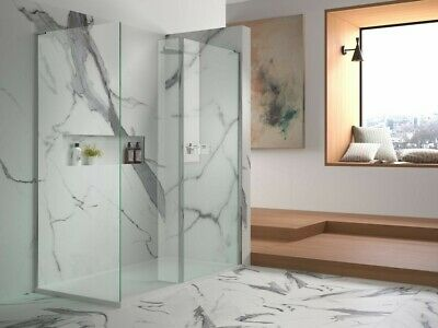 £89.99 • Buy Matki 850mm Wide WALK-IN Screen.10mm Thick Clear Glass Panel | Previously Fitted