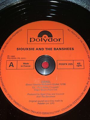 £9.99 • Buy Siouxsie And The Banshees Israel / Red Over White Original 1980 Polydor Uk 12
