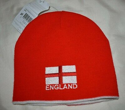 £4.90 • Buy Team England Reversible Colour Red + White Beanie Winter Hat One