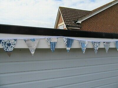 £6 • Buy Blue Abstract / Seaside Design Garden /indoor Pvc Bunting 10ft Approx 3 Mtrs