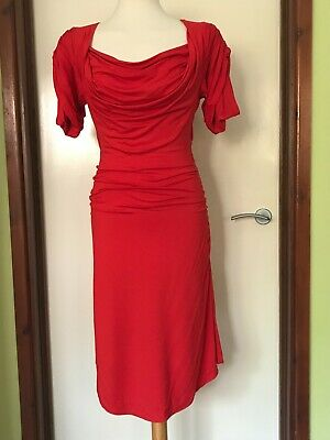 £120 • Buy VIVIENNE WESTWOOD ANGLOMANIA Red Jersey Dress Size L / UK 12/14