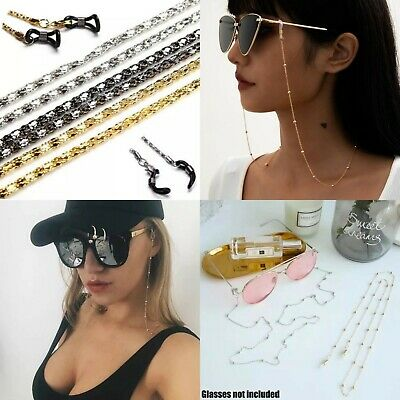 £1.35 • Buy Gold Sunglasses Chain Glasses Silver Necklace Gun Metal Lanyard Jewellery Wipes