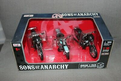 $ CDN99.99 • Buy Maisto Sons Of Anarchy Samcro 3 Pack Diecast Motorcycles *Rare*