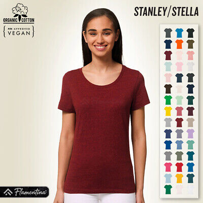 £7.91 • Buy Womens Organic Cotton Iconic Fitted T-Shirt Stanley Stella Short Sleeve Tops Tee