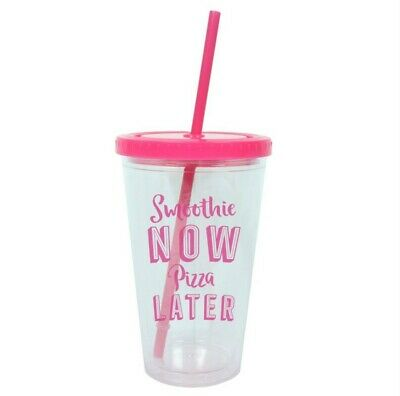 £5.99 • Buy Drinking Cup With Lid And Straw Smoothie Now