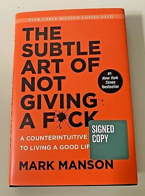 AU94.27 • Buy SIGNED The Subtle Art Of Not Giving A F*uck Autographed By Mark Manson Hardcover
