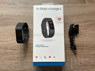 $ CDN1.69 • Buy Fitbit Charge 2 Heart Rate Fitness Activity Tracker - Wristband - Large - Black
