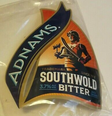 £3.50 • Buy Beer Pump Clip Badge Front ADNAMS Brewery SOUTHWOLD BITTER Real Ale NEW Suffolk