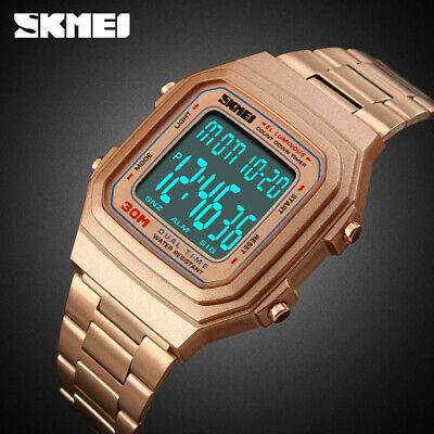 $ CDN12.06 • Buy Skmei Fashion Men's Watch Countdown Sports Led Wristwatch 30m Waterproof 1337 2