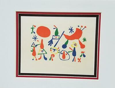 £34.70 • Buy Joan Miro  People  Matted Offset Lithograph Limited Ed. 1972