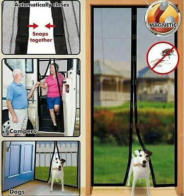 £6.49 • Buy Magic Curtain Door Mesh Magnetic Fastening Mosquito Fly Bug Insect Net Screen