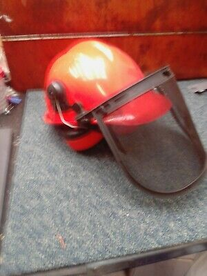 £10.90 • Buy Chainsaw Safety Helmet With Visor And Ear Defenders