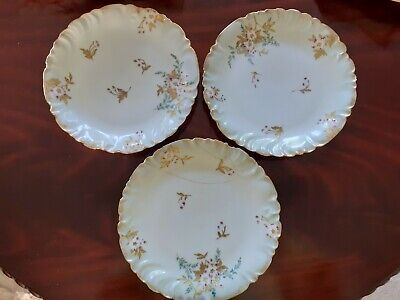 £10 • Buy Vintage Floral Design Collectors Plates X3 CFH/GDM From France, 1 Is Repaired