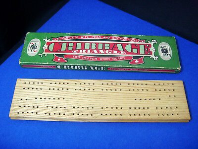 £6.95 • Buy Vintage Old Stock C1960s Japan Made Cribbage Board Triangle
