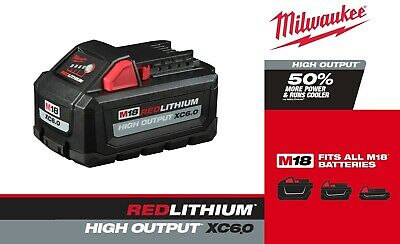 $ CDN154.81 • Buy Milwaukee 48-11-1865 M18 REDLITHIUM High Output XC6.0 Battery Pack SHIPS NOW!
