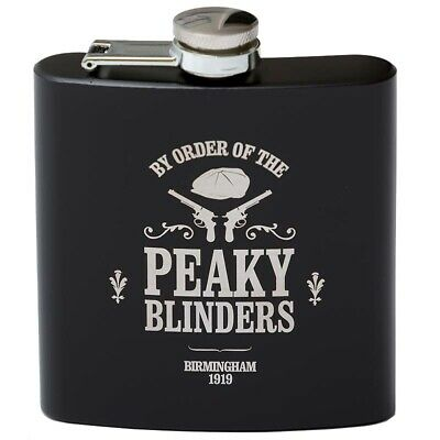 £9.99 • Buy Birmingham Gangsters Engraved 6oz Black Hip Flask With Gift Box & Funnel