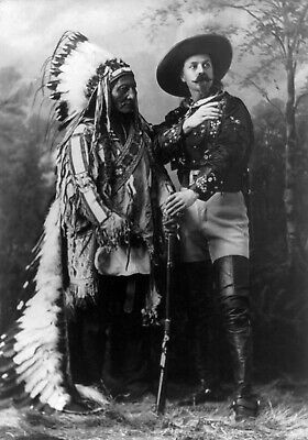 £3.99 • Buy Native American Sitting Bull Buffalo Bill 1885  Print Poster Wall Picture A4 +