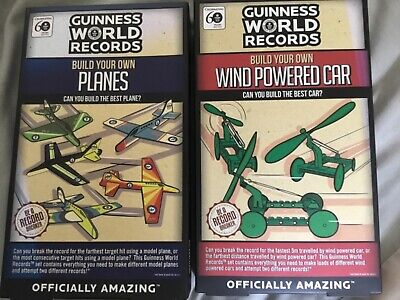 £11 • Buy 2 New Guinness World Records Build Your Own Sets. Planes And Car
