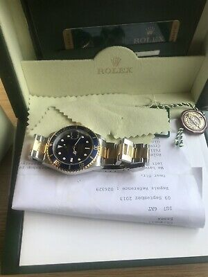 £9000 • Buy Genuine Rolex Submariner Gold Two Tone Watch