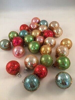 $ CDN36.29 • Buy Vintage Lot Of 28 Feather Tree Wire Wrap Mercury Glass Christmas Ornaments