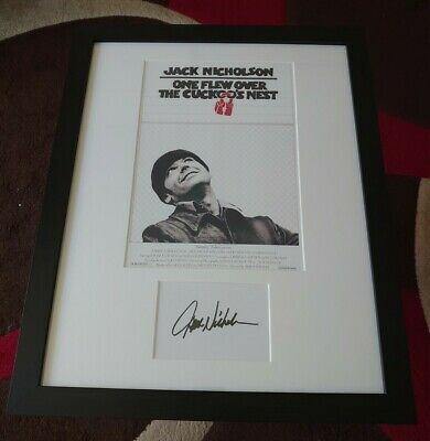 £165 • Buy Jack Nicholson One Flew Over The Cuckoo's Nest Hand Signed Print Framed