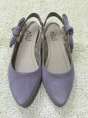 £4.50 • Buy Ladies Milli Light Lilac Pointed Toe Slingback Flat Sandals Shoes, Size Eur 39