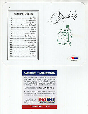£359.04 • Buy Seve Ballesteros Hand Signed Masters Golf Score Card       Awesome+rare      Psa