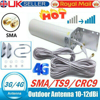 £15.99 • Buy UK~Signal Booster Antenna Dual SMA Male 3/4G LTE Outdoor Fixed Bracket WallMount