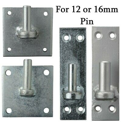 £9.99 • Buy GATE HINGES HANGERS WROUGHT IRON METAL ZINC GATES FITTINGS FOR 12mm Or 16mm BOLT