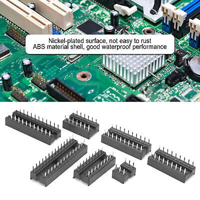 £7.02 • Buy 66Pcs 2.54mm Pitch Dual Row DIP IC Sockets Solder Type Adaptor Components