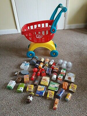 £5 • Buy Chad Valley Push Along Shopping Trolley With Play Food For Pretend Play