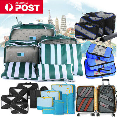 AU17.09 • Buy Travel Packing Cubes Set Pouch Luggage Organiser Suitcase Clothes Storage Bag