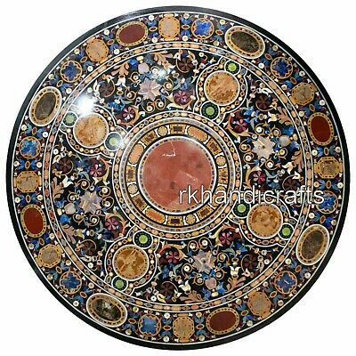 AU4511.41 • Buy 50 Inches Multi Gemstones Inlaid Dining Table Top Round Marble Meeting Table